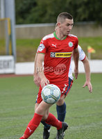 Press Eye Belfast - Northern Ireland 12th August 2017. Danske Bank Irish Premier league match between Cliftonville and Ards at Solitude Belfast.. Cliftonvilles Daniel Hughes.  Photo by Stephen  Hamilton / Press Eye
