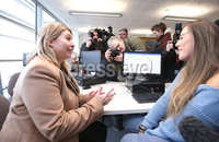 Press Eye - Belfast - 10th January 2018  . Rt Hon Karen Bradley MP visits Northern Ireland for her first official engagement as Secretary of State for Northern Ireland. The Secretary of State visited Belfast Metropolitan College where she met Students and staff.. Picture by Matt Mackey / Presseye.com