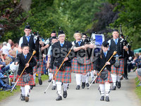 Press Eye Belfast - Northern Ireland 13th July 2017. Thousands of spectators attend the annual Sham Fight and Royal Black Preceptory parade in the County Down village of Scarva.  The event is a theatrical re-enactment of the victory of William III of Orange over the Catholic King James II at the Battle of the Boyne in 1690.  . . Picture by Jonathan Porter/PressEye.com.