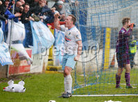 Danske Bank Premiership at Coleraine Showgrounds, Coleraine  09.03.2019. Coleraine FC Vs Ballymena United. . Ballymena\'s Albert Watson celebrates after Andrew McGrory scores to make it 0-4 and gets a hat trick. . . Mandatory CreditINPHO/PressEye.com/Jonathan Porter.