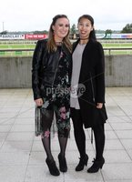 Press Eye © Belfast - Northern Ireland. Photo by Freddie Parkinson / Press Eye ©. Friday 8 September 2017. West Coast Cooler Race Evening at Down Royal Racecourse. Aisling Doyle and Kimberly Lai