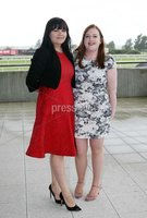 Press Eye © Belfast - Northern Ireland. Photo by Freddie Parkinson / Press Eye ©. Friday 8 September 2017. West Coast Cooler Race Evening at Down Royal Racecourse. Inga White and Rachael Laws