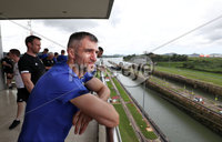 Press Eye - Belfast -  Northern Ireland - 28th May 2018 - Photo by William Cherry/Presseye. Northern Ireland\'s Aaron Hughes at the Panama Canal on Monday morning as part of their summer tour to Panama and Cost Rica. The Canal is a 77.1-kilometre ship canal in Panama that connects the Atlantic Ocean to the Pacific Ocean. Photo by William Cherry/Presseye