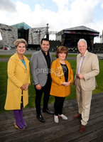 Press Eye - Belfast -  Northern Ireland - 13th September 2019 - Photo by William Cherry/Presseye .  All set for this years BBC Proms in the Park at the Titanic Slipways in Belfast are presenters Noel Thompson and Marie-Louise Muir with Susan Boyle, who is headlining the show and Australian tenor Mark Vincent, just some of the performers from this years show which takes place tomorrow evening (Saturday 14 September)..  . Extracts from BBC Proms In The Park in Northern Ireland will be carried nationally across BBC One and BBC Two on the night. Viewers may also to choose to watch a live stream of the Belfast show at: bbc.co.uk/nilive.  . BBC Radio Ulster will also be live on the night with presenter John Toal from 7.30pm. And BBC One Northern Ireland will broadcast a highlights programme on Sunday 22 September at 5.35pm, followed by a programme featuring highlights of Proms in the Park across the United Kingdom at 7pm on BBC Four. .  . For those attending the Belfast concert, access to the Titanic Slipways will be from 5.30pm on Saturday, September 14. As this is an outdoor event, audiences are advised to dress for the weather..  . For those using public transport, train and bus services will operate as normal. For those driving to the event there will be clear car parking signage within the Titanic Quarter and on approach roads and Queens Road. Car parking will be available on Titanic Quarter surface car parks. The parking charge is 5.00 and exits from these car parks will be restricted after the event until the Queens Road is clear of pedestrians   Photo by William Cherry/Presseye