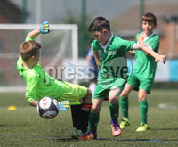 ©/Presseye.com - 17th July 2017.  Press Eye Ltd - Northern Ireland - Hughes Insurance Foyle Cup 2017- Mini Soccer U-10 - Kick Start (Derry) V Illies Celtic (Donegal). Illies Celtic\'s Oran Doherty opens the scoring with this effort..  . Mandatory Credit Photo Lorcan Doherty / Presseye.com