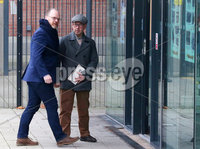 Press Eye - Belfast - Northern Ireland - 30th November 2018. . The Detail journalists Barry McCaffrey(right) and Trevor Birney pictured entering PSNI Musgrave Street Station where for further questioning after they were recently arrested regarding allegedly stolen information which appeared in the documentary \'No Stone Unturned\'.  The documentary told the story of the murder of six men by the UVF in a pub in Loughinisland, Co. Down. . Picture by Jonathan Porter/PressEye