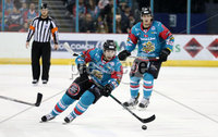 5 January 18, Mandatory Credit ©Press Eye/Darren Kidd.  . Belfast Giants xxxx with Sheffield Steelers xxxxx during Friday nights Elite League game at the SSE Arena, Belfast.