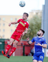 Danske Bank Premiership, Solitude, Belfast 9/9/2017 . Cliftonville vs Dungannon Swifts . Cliftonville\'s Liam Bagnall with Dungannon\'s Cormac Burke. Mandatory Credit ©INPHO/Jonathan Porter