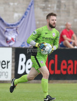 Press Eye - Danske Bank Premiership  - 12th August 2017. Dungannon Swifts v Coleraine. Photograph By Declan Roughan. Coleraines keeper Chris Johns.