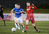 Danske Bank Premiership at Solitude, Belfast.  13.01.2020. Cliftonville FC vs Linfield FC. Cliftonvilles Ruaidhri Donnelly with Linfields Jamie Mulgrew. Mandatory Credit INPHO/Jonathan Porter