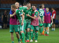 Press Eye - Belfast -  Northern Ireland - 11th June 2019 - Photo by William Cherry/Presseye. Northern Ireland\'s Corry Evans and Paddy McNair after defeating Belarus 1-0 during Tuesday nights UEFA EURO 2020 Qualifier at the Borisov Arena, Belarus.      Photo by William Cherry/Presseye