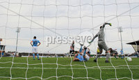 Danske Bank Premiership, Showgrounds, Ballymena  24/8/2019. Ballymena United  vs Glentoran FC . Ballymena United\'s  dejected  after a last minute winning goal by Glentoran.,.. Mandatory Credit  INPHO/Brian Little