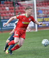 Press Eye Belfast - Northern Ireland 12th August 2017. Danske Bank Irish Premier league match between Cliftonville and Ards at Solitude Belfast.. Cliftonvilles Chris Curran.  Photo by Stephen  Hamilton / Press Eye