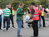 Press Eye - Belfast - Northern Ireland - 14th July 2017 . Celtic fans arrive at Windsor Park in Belfast . to watch Linfield v Celtic in their first Champions League game.. Picture by Matt Mackey / presseye.com.