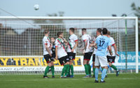 Danske Bank Premiership, Showgrounds, Ballymena  24/8/2019. Ballymena United  vs Glentoran FC . Ballymena United\'s   Andy McGrory scores a free kick against  Glentoran .. Mandatory Credit  INPHO/Brian Little