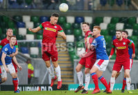 Danske Bank Premiership at Windsor Park, Belfast.  07.12.2019. Linfield FC Vs Cliftonville FC. Cliftonvilles Conor McDermott clears the ball from his box. . Mandatory Credit INPHO/Jonathan Porter