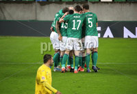 Press Eye - Belfast, Northern Ireland - 18th November 2020 - Photo by William Cherry/Presseye. Northern Ireland\'s Liam Boyce celebrates scoring against Romania during Wednesday nights UEFA Nations League game at the National Football Stadium at Windsor Park, Belfast. Photo by William Cherry/Presseye