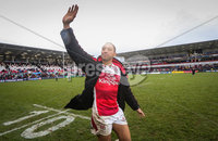 European Rugby Champions Cup Round 5, Kingspan Stadium, Belfast 13/1/2018. Ulster vs La Rochelle. Ulster\'s Christian Lealiifano waves goodbye to the Ulster fans on his last game . Mandatory Credit ©INPHO/Ryan Byrne