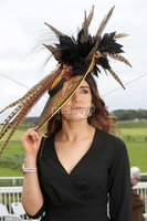 Press Eye - Belfast - Northern Ireland - 11th August 2019 - Sileen McAleenan from Lietrim pictured at the Downpatrick Racecourse Style Sunday race meeting. . Photograph by Declan Roughan / Press Eye