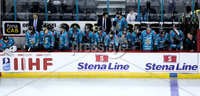 Press Eye - Belfast -  Northern Ireland - 11th January 2019 - Photo by William Cherry/Presseye. Belfast Giants players during Friday nights Continental Cup Final game against HK Gomel at the SSE Area, Belfast.   Photo by William Cherry/Presseye