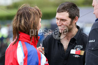 PressEye - Belfast - Northern Ireland - 21st April 2017. The Around-A-Pound Tandragee 100 Road Races.. Pictured: Guy Martin interacting with fans.. Picture: Philip Magowan / PressEye