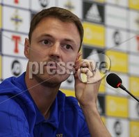 PressEye-Northern Ireland- 10th September  2018-Picture by Brian Little/ PressEye. Northern Ireland Jonny Evans  at a press conference  ahead of Tuesday Friendly International Challenge match against Israel  at the National Football Stadium at Windsor Park.. Picture by Brian Little/PressEye .