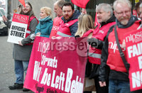 Press Eye - Belfast - Northern Ireland - 24th January 2020. Members of NIPSA pictured outside the Children Support offices on Great Victoria Street in Belfast as civil servants across Northern Ireland go on strike regarding an ongoing pay dispute. .   . Picture by Jonathan Porter/PressEye