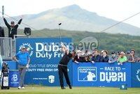 2018 Dubai Duty Free Irish Open, Ballyliffin Golf Club, Co. Donegal 8/7/2018. Adam Bland on the first tee. Mandatory Credit ©INPHO/Presseye/Kelvin Boyes