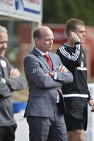 Press Eye Belfast - Northern Ireland 12th August 2017. Danske Bank Irish Premier league match between Cliftonville and Ards at Solitude Belfast.. Cliftonville\'s manager Barry Gray.  Photo by Stephen  Hamilton / Press Eye
