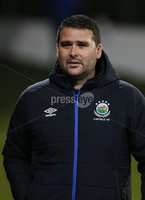 Bet McLean League Cup 3rd Round, Stangmore Park, Dungannon   8/10/2019. Dungannon Swifts FC  vs Linfield FC. Linfield manager David Healy . Mandatory Credit  INPHO/Brian Little