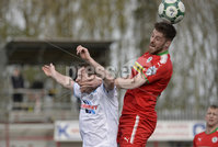 13th April 2019. Danske Bank Irish premiership. Cliftonville v Ballymena United at Solitude Belfast.. Cliftonville\'s Niall Grace in action with Ballymena\'s Andy McGrory. Mandatory Credit -Inpho/Stephen Hamilton .