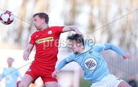 Press Eye - Belfast - 6th January 2018  . Cliftonville v Warrenpiont Town, Tennents Irish Cup 5th round at Solitude, North Belfast.. Cliftonville\'s Liam Bagnall in action with Warrenpiont Town\'s Liam McKenna. Picture by Matt Mackey / Inpho.ie