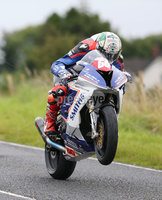 PressEye-Northern Ireland- 12th  August   2017-Picture by Brian Little/ PressEye. Peter Hickman Smiths Racing BMW S1000RR on the way to victory at the Deers Leap  during  the Lisburn & Castlereagh City Council Superstock Race  at the MCE Insurance Ulster Grand Prix, around the 7.4  mile Dundrod Circuit . Picture by Brian Little/PressEye