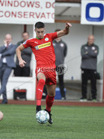 Press Eye Belfast - Northern Ireland 12th August 2017. Danske Bank Irish Premier league match between Cliftonville and Ards at Solitude Belfast.. Cliftonville Jay Donnelly.  Photo by Stephen  Hamilton / Press Eye