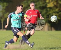 ©/Presseye.com - 17th July 2017.  Press Eye Ltd - Northern Ireland - Hughes Insurance Foyle Cup 2017- U-17 - Derry City V Willowbank FC (Belfast). Derry\'s Kieran Farren and Williowbank\'s Padraig Harris..  . Mandatory Credit Photo Lorcan Doherty / Presseye.com