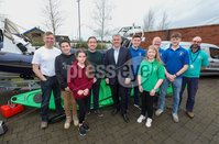 Press Eye - Belfast - Northern Ireland - 15th February 2020. Secretary of State BrandonLewis meets young people from a variety of groups at Belvoir Youth Centre in south Belfast. He listened to their concerns & aspirations for the future. Picture Matt Mackey / Press Eye.
