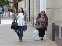 Press Eye - Belfast - Northern Ireland - 29th July 2020 - . Christine Connor pictured arriving at Belfast Crown Court on Wednesday.. Christine Connor (34) is standing trial at Belfast Crown Court on six offences - including attempting to murder police, possessing explosives and causing an explosion - arising from two pipe bomb incidents in the north of the city in May 2013.. Photo by Press Eye.
