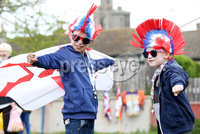 Press Eye - Northern Ireland - 18th April 2017 - Photographer - © Matt Mackey / Presseye.com. Adam and Jay Douglas.. The Junior Orange Association of Ireland hold its annual Easter Tuesday demonstration in Donaghadee. . The main parade, organised by Belfast Junior County Lodge, left the Harbour Road car park and proceed through the town centre to Crommelin Park playing fields. .  . Senior officers and juniors representing three Belfast Districts, Donaghadee, and a number of other lodges from across Northern Ireland - accompanied by eight bands participated.
