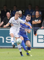 Press Eye - Danske Bank Premiership  - 12th August 2017. Dungannon Swifts v Coleraine. Photograph By Declan Roughan. Dungannons Swifts Cormac Burke. Coleraine's Ciaron Harkin