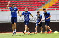 Press Eye - Belfast -  Northern Ireland - 02nd June 2018 - Photo by William Cherry/Presseye. Northern Ireland\'s Craig Cathcart, Paul Smyth, Ryan McLaughlin and Jordan Thompson pictured during Saturday mornings training session at the Nuevo Estadio Nacional de Costa Rica in San Jose ahead of Sundays Friendly International against Costa Rica.. Photo by William Cherry/Presseye