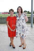 Press Eye © Belfast - Northern Ireland. Photo by Freddie Parkinson / Press Eye ©. Friday 8 September 2017. West Coast Cooler Race Evening at Down Royal Racecourse. Arlene Wilson and Grain McCluskey