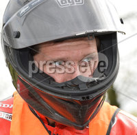 Mandatory Credit: Rowland White / PressEye. Motor Cycle Racing: 57th Tandragee 100 . Venue: Tandragee. Practice Day. Date: 21st April 2017. Caption: Guy Martin at the ready