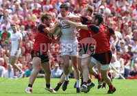 Ulster GAA Senior Football Championship Final, St Tiernach\'s Park, Clones, Co. Monaghan 16/7/2017. Down vs Tyrone. Tyrone\'s Sean Cavanagh with Down\'s Gerard McGovern, Darren O\'Hagan and Kevin McKernan. Mandatory Credit ©INPHO/Presseye/Philip Magowan