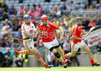 Nickey Rackard Final, Croke Park, Dublin 9/6/2012. Armagh vs Louth. Armagh\'s Ciaran Clifford and Gary Rellis of Louth. Mandatory Credit ©INPHO/Ryan Byrne