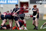 Press Eye - Belfast -  Northern Ireland - 12th March 2019 - Photo by William Cherry/Presseye. Ballymena Academy\'s Ben King with Methodist College\'s captain Johnny OKane during Tuesday afternoons Danske Bank Medallion Shield Final at the Kingspan Stadium, Belfast.   Photo by William Cherry/Presseye