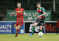Danske Bank Premiership, The Oval, Belfast   4/10/2019. Glentoran  FC  vs Cliftonville  FC. Glentoran\'s  Darren Murray   and  Conor McMenamin of Cliftonville .. Mandatory Credit  INPHO/Brian Little