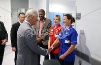 Press Eye - Belfast - Northern Ireland - 13th June 2018 - . The Prince of Wales has visited the Omagh Hospital and Community Care Complex in County Tyrone. His two-day visit to Northern Ireland began in Belfast earlier on Tuesday. The Omagh Hospital and Primary Care Complex opened to patients on 20 June 2017 and provides a range of hospital and community healthcare services together in one place. It ushered in a new era of joined up health care provision in the district.  It replaces the 118-year-old Tyrone County Hospital and investment in new equipment and technologies have improved patient care. The new hospital in Omagh has a 24-hour Urgent Care and Treatment Centre which provides cardiac assessment, a treatment room, x-ray and scans.. The Prince of Wales is pictured meeting Nurse . Anne Young.. Photo by Kelvin Boyes / Press Eye..