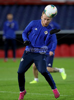 Press Eye - Belfast, Northern Ireland - 09th October 2019 - Photo by William Cherry/Presseye. Northern Ireland\'s Liam Boyce during Wednesday nights training session at Stadium Feijenoord ahead of Thursday nights UEFA Euro 2020 Qualifier against Netherlands in Rotterdam. Photo by William Cherry/Presseye
