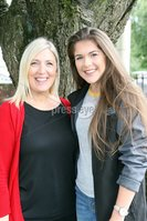 Mandatory Credit - Picture by Freddie Parkinson/Press Eye . Thursday 15 August 2019. Ballyclare High School. A Level Results on the increase once again in Ballyclare High School.. Mrs Sharon Kent head of year 14 with Lucy McCammond 3A