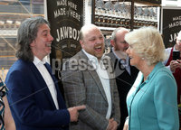 22 May 2019, Mandatory Credit Press Eye/Darren Kidd.  The Prince of Wales and Duchess of Cornwall during their visit to The Grand Central Hotel Belfast on the second day of their visit to Northern Ireland. . Restauranter Michael Dean with the Duchess of Cornwall
